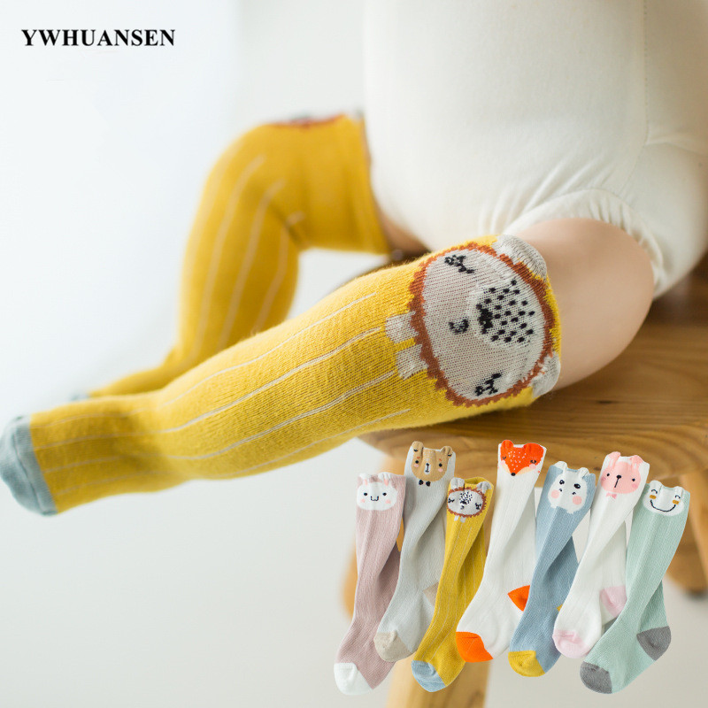 YWHUANSEN 0 To 2 Yrs Animal Baby Knee High Socks Spring Autumn Winter Newborn Leg Warmer For Girls Boys Infants Cotton Long Sock