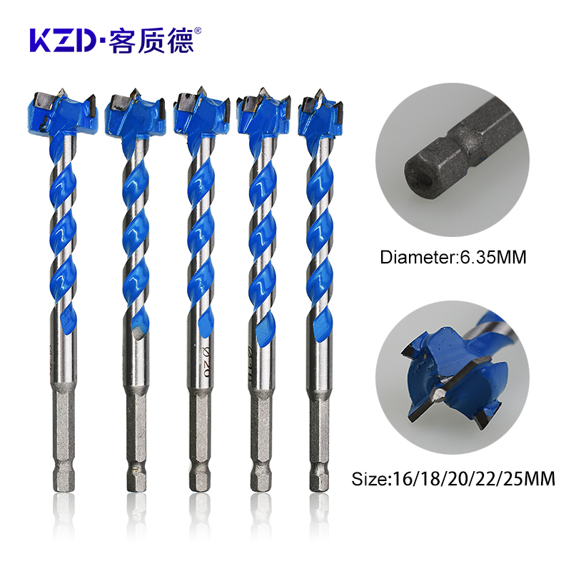 Electric Drill Tools Tungsten Steel Hole Opener 16mm 18mm 20mm 22mm 25mm Woodworking Drill Bit Round Shank Hole Saw Drill