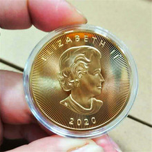 20 Dollars Coin-Gift Coin-Commemorative Gold-Coins Canadian Copy Token Leaf Commonwealth-Queen