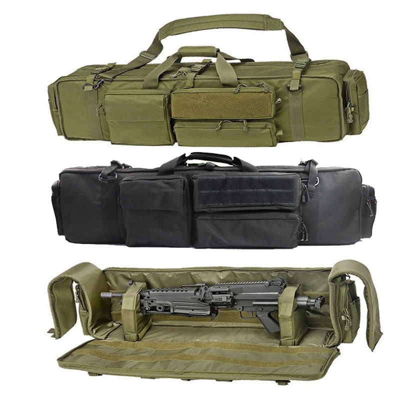 Military Gun Bag Backpack Double Rifle Bag Case For SAW M249 M4A1 M16 AR15 Airsoft Carbine Carrying Bag Case With Shoulder Strap