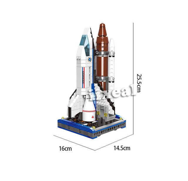 XINGBAO Space Exploration City Model Building Kits Blocks Fit Lego Plane Shuttle Architecture Bricks for Children