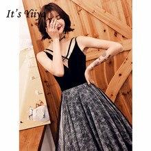 купить It's Yiiya Evening Dress 2019 Contrast Color Backless Robe de Soiree Elegant Lace Embroidery V-Neck Sleeveless Formal Gown E1328 по цене 3583.52 рублей
