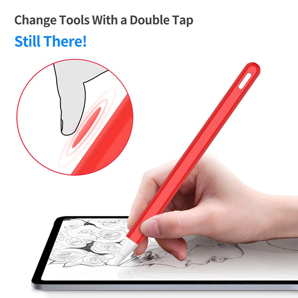 Universal Active Stylus Touch Pen Silicone Capacitive Stylus Pen Case Protective Sleeve For Apples I-Pad Pencil 2 For 애플펜슬 стилс