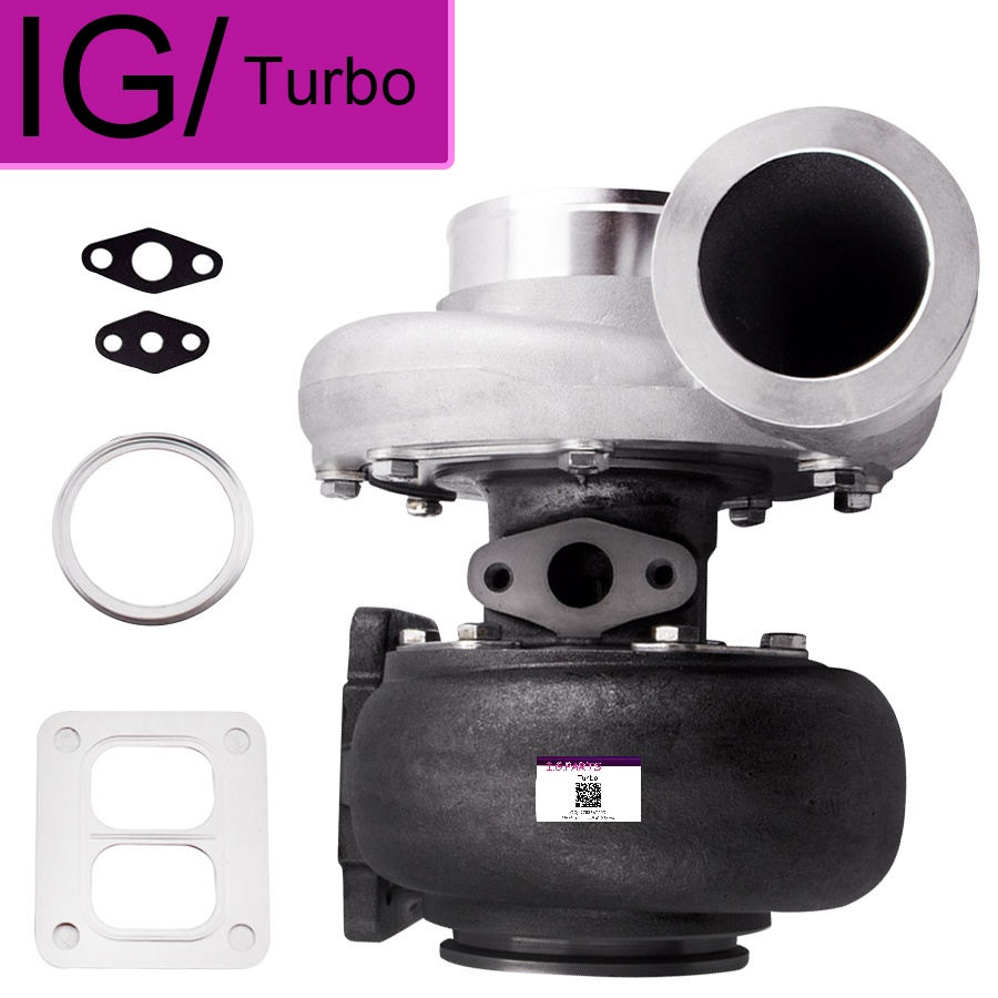 NEUE GT45 GT45R Universal <font><b>Turbo</b></font> A/R. 66 A/R 1,05 <font><b>T4</b></font> T66 V-band Turbolader 4 Bolzen Flansch 600 + HP Externe Wastegate image