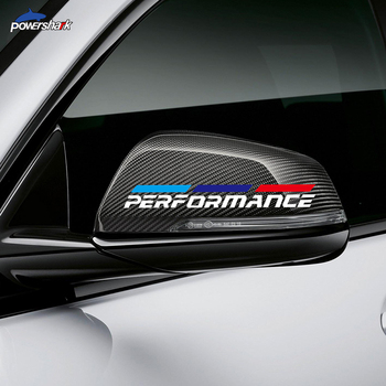 2 Pcs M Performance Car Rearview Mirror Sticker For BMW F30 F10 F20 F32 F22 E60 E90 G20 G30 F40 X3 X4 X5 X6 M4 M5 M3 Accessories image
