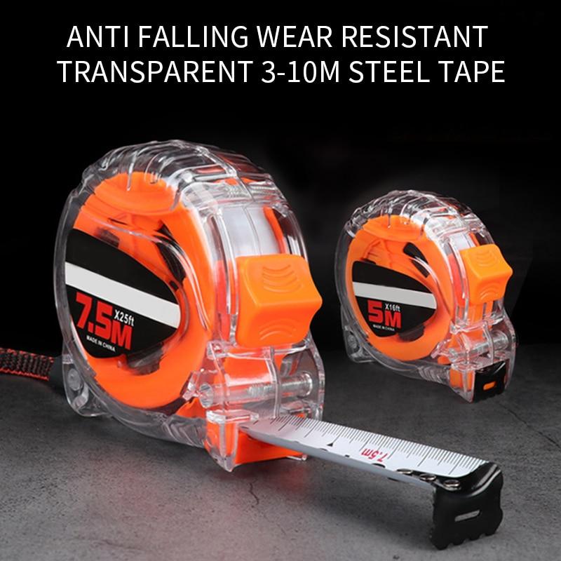 Устойчивая к падениям и износу прозрачная стальная рулетка 3-10 м измерительная металлическая рулетка измерительная Водонепроницаемая руле...