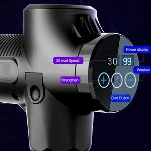 Image 2 - СВЕТОДИОДНЫЙ беспроводной массажный пистолет, перезаряжаемый мышечный Стимулятор, массажер для глубоких тканей, релаксация тела, коррекция фигуры, облегчение боли