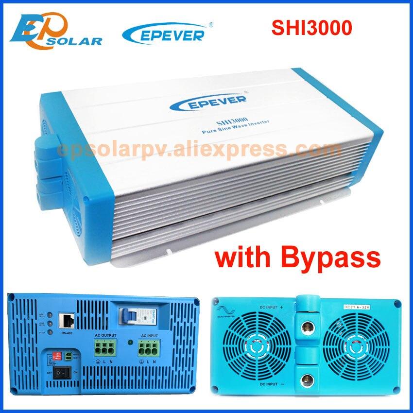 EPever Inverter 3000W Power 48V DC zu 220V 230v AC Intelligente Digitale Inverter Spannung Konverter mit bypass funktion SHI3000