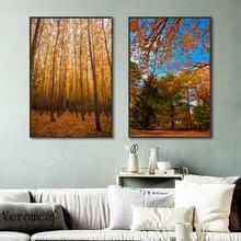 Пейзаж на холсте с осенним пейзажем настенные картины сезона