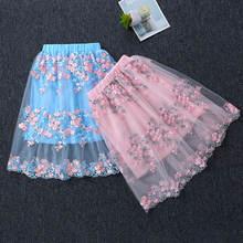 2021 летние юбки с вышивкой для маленьких девочек детское бальное