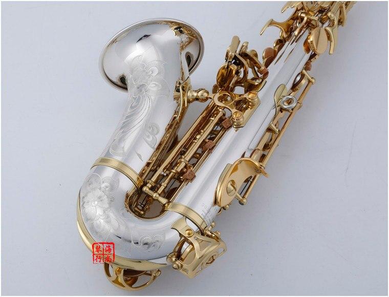Image 4 - BULUKE    Curved Soprano Saxophone 9937 Nickel Silver Brass Sax Mouthpiece Patches Pads Reeds Bend NeckSaxophone   -