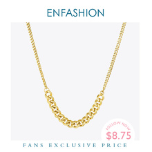 enfashion chinese zodiac ox necklace bull head stainless steel chain pendant womens necklaces jewelry ras de cou pfy183004 ox ENFASHION Link Chain Pendant Necklace Women Stainless Steel Gold Color Choker Necklaces Fashion Jewelry Collares 2020 P203078