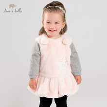 DB12363 dave bella winter baby meisje ball stars jurk kinderen fashion party jurk kids baby lolita kleding(China)