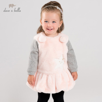 DB12363 dave bella winter baby girl's ball stars dress children fashion party dress kids infant lolita clothes image