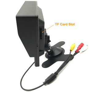Image 4 - Full HD Mini 1024*600 7 inç CCTV ev güvenlik 1080P AHD 2 bölünmüş ekran IPS monitör DVR araba gözetim IPS ekran kaydedici