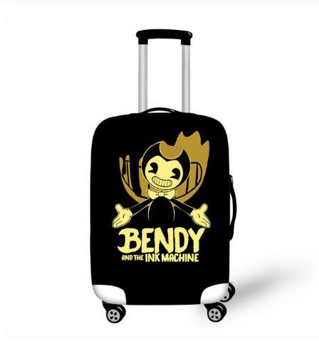 18-32 Inch Bendy And The Ink Machine Elastic Thicken Luggage Suitcase Protective Cover Cartoon Travel Protect Dust Bag Case