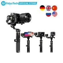 FeiyuTech – Feiyu G6 Plus stabilisateur de cardan 3 axes, poignée anti-éclaboussures, pour caméra Sony de poche sans miroir, GoPro Hero 8 7 6