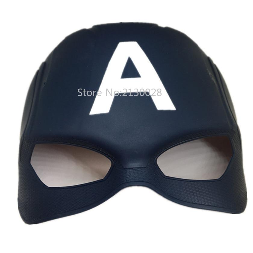 10pcs/lot Hot Sale Civil War Half Face Avengers Captain US Halloween Mask High Quality PVC America