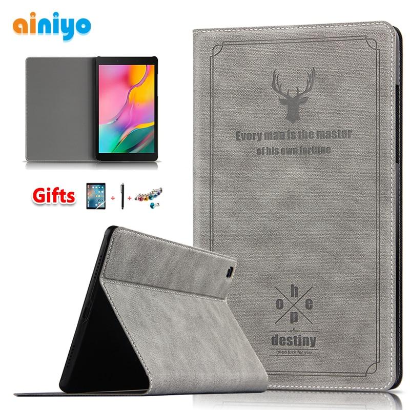 Чехол из искусственной кожи для Samsung Galaxy Tab A 8,0, 2019, чехол для планшета и ПК с диагональю 8 дюймов, с диагональю 8 дюймов, с функцией защиты от со...