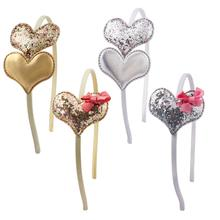 2019 New Love Heart Headband Girl Sequins Family Banquet Birthday Party Decoration Hair Accessories