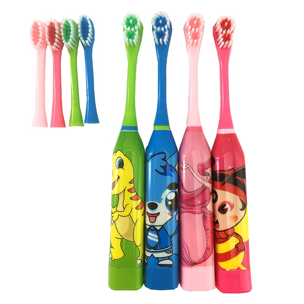 Vbatty Children's Toothbrush Cartoon Sonic Electric Toothbrush Oral Hygiene Teeth Care Tooth Brush Kids Battery Power Brush