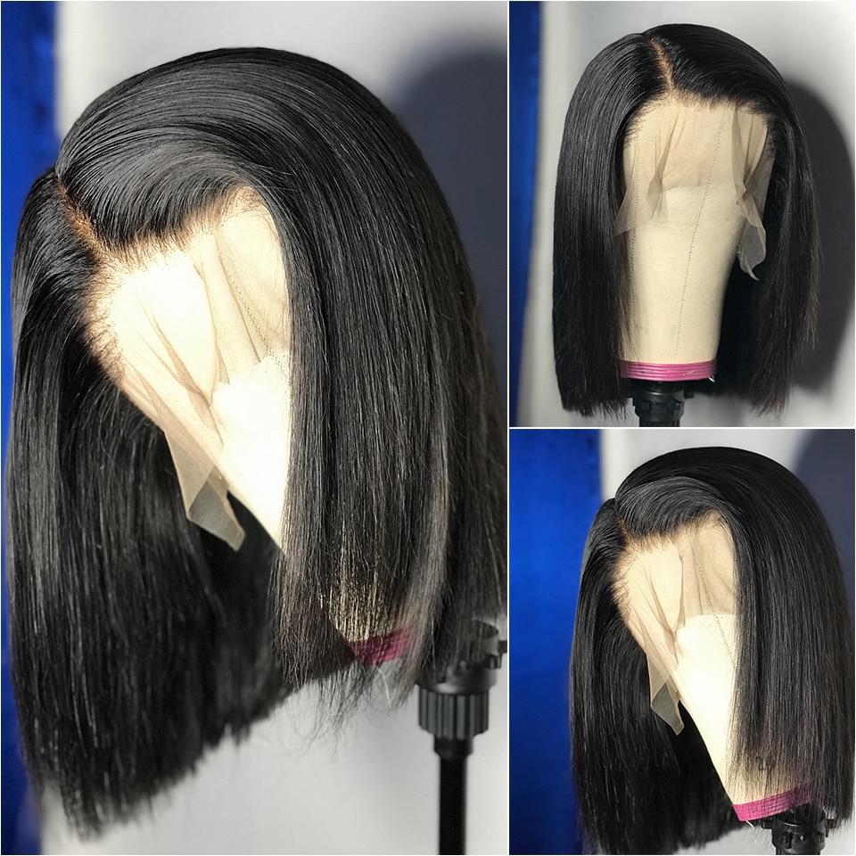 Bone Straight Bob Wig Straight Lace Front Human Hair Wigs 13x1 Remy Lace Front Wig Human Hair Bob Cheap Short Pixie Cut Wigs