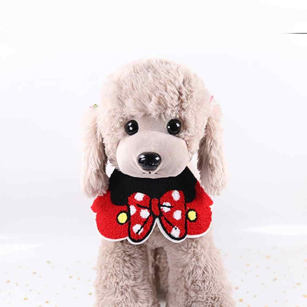 Caliente mascota Saliva toalla perro Collar encaje chal mascota Saliva toalla gato perro bufanda ajustable transpirable Linda ropa grasa decorativa babero