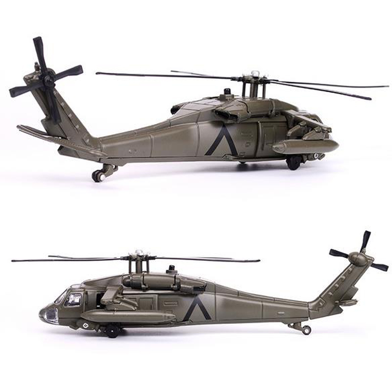 29CM Alloy Black Hawk Helicopter Military Model Toys Army Fighter Model Aircraft Collecting Toys