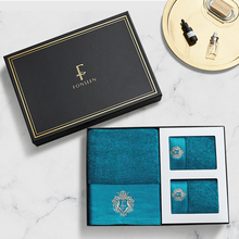 Hotel Luxury Bath Towel Pure Cotton Three-piece Gift Box Set of Adult Towels Large Bath Towel Soft Hand Towels Bathroom 6MM51