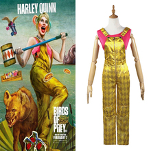 Harley Quinn Birds of Prey Cosplay Batman Harley Quinn Costume Halloween Costumes for Adult Women Superhero Outfit Jumpsuit wig