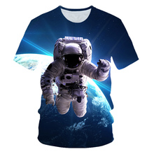 2019 Summer Children 3D T-shirt Boys Girls Galaxy Space Astronaut Planet Balloon Printing T shirt Kids Party Pullover Tshirts