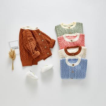 Swetry dziecięce jesień dzianiny bawełniane swetry z długim rękawem dla dziewczynek płaszcz chłopcy swetry rozpinane niemowlę dziewczynek topy swetry dziecięce tanie i dobre opinie Colorful Childhood Europejskich i amerykańskich style COTTON Mikrofibra Pasuje prawda na wymiar weź swój normalny rozmiar