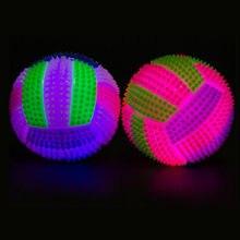 2020 mais recente cor variável led voleibol piscando luz acima saltando hedgehog bola crianças festa de brinquedo presente festa aniversário presente
