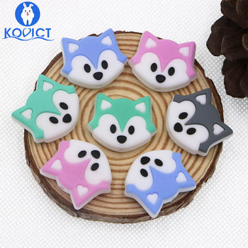 Kovict 100pc Fox Silicone Beads Food Grade Silicone Teether DIY Nursing Necklace Accessories perle Beads Baby Teethers
