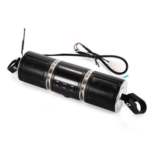 OllyMurs MT487 12V Black Motorcycle MP3 Music Player Bluetooth Stereo Speaker FM Radio With LED Display Waterproof XL-63 недорого