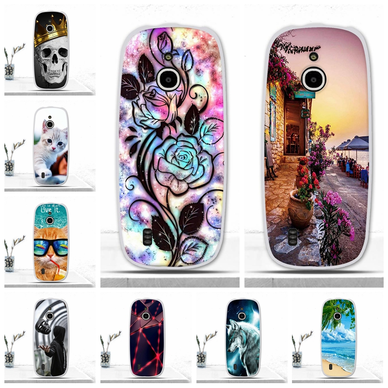 Phone <font><b>Cover</b></font> For <font><b>Nokia</b></font> <font><b>3310</b></font> <font><b>3G</b></font> 4G Case Silicone Soft TPU Protective Back <font><b>Cover</b></font> For <font><b>Nokia</b></font> <font><b>3310</b></font> <font><b>3G</b></font> Cases Painting Patterned Shells image