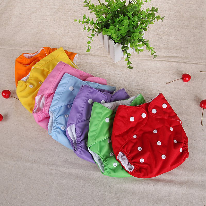 Baby Washable Diaper Pants Toddlers Girls Boys Reusable Grid Pocket Nappy Cotton Training Cloth Diaper Breathable TPU Urine Pad