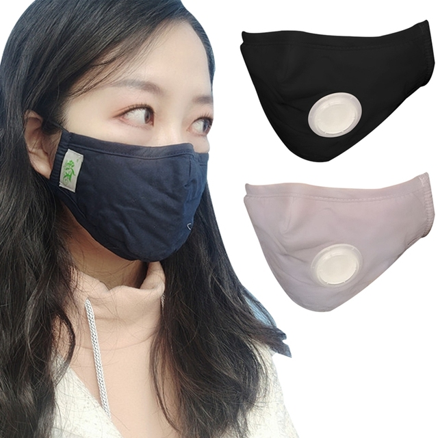 PM2.5 Filter Cotton Mouth Mask Health Care Anti Haze Dust Face Masks Air Pollution Anti Flu Masks With 4 KN95 Filter