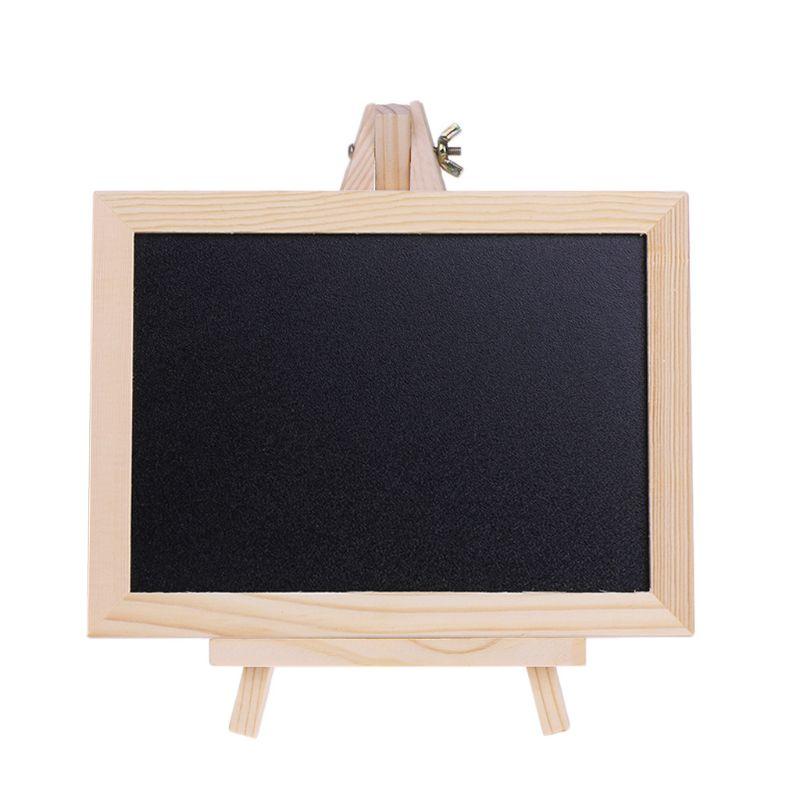 Wood Tabletop Chalkboard Double Sided Blackboard Message Board Children Kids Toy