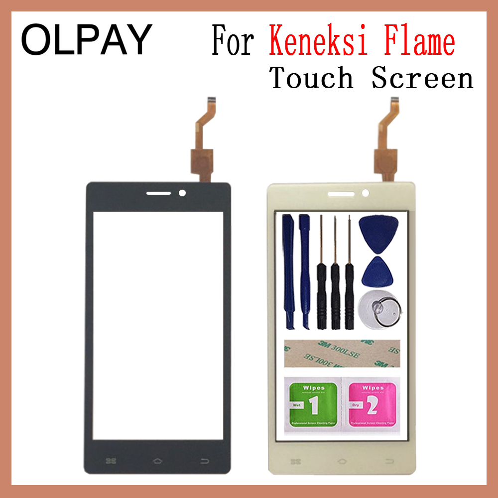 OLPAY 4.5'' 100% New Mobile Phone Touch Screen For Keneksi Flame Digitizer Sensor HD Panel Replacement Touchscreen Glass
