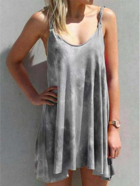 New dress gradient printing condole belt dress in summer 3
