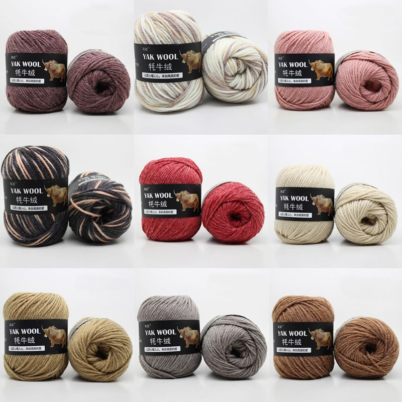 100g Artificial Yak Wool Thread Hand Knitted Crochet Medium Thick Worsted Yarn