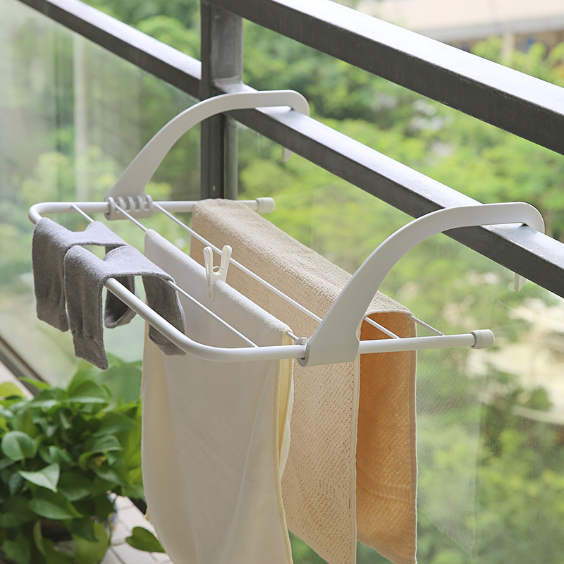 Valve Iron Art Window Clothes Rack Windowsill Shoe Rack Balcony Air Dry Heating Radiator Rack Small Folding Drying Rack