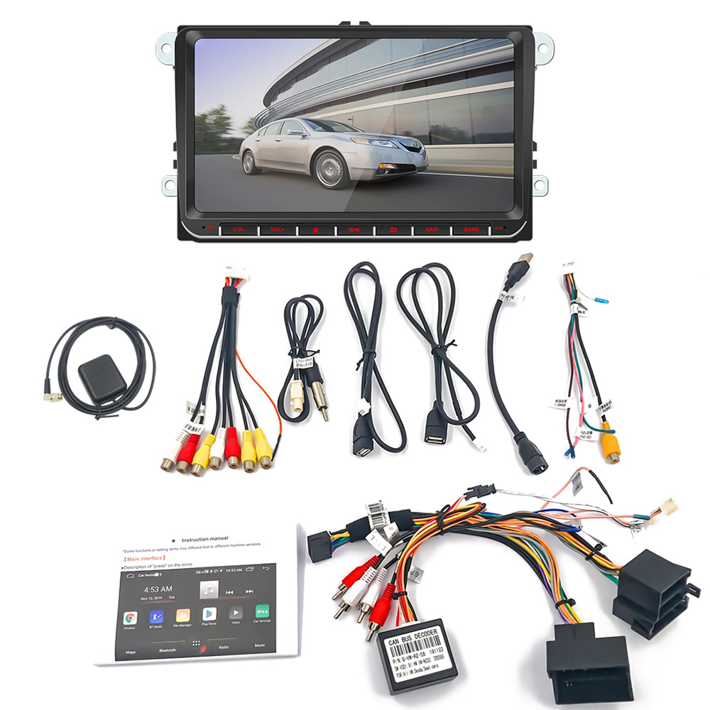 2Din 9 inch Car MP5 Multimedia Video Player GPS Navigation WIFI Android 8.1 Car Radio Mirror Link Stereo Audio for Skoda Golf  9|Car Radios| |  - title=