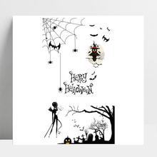 AZSG Happy Halloween Owl Cobweb Ghost For DIY Scrapbooking/Card Making/Album Decorative Silicone Stamp Crafts