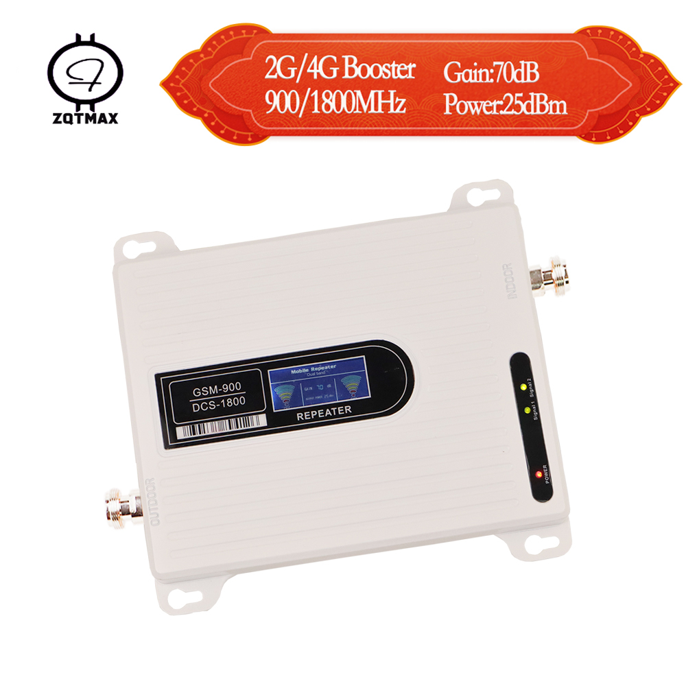 ZQTMAX 2g 4g Mobile Signal Booster Dcs 1800 Lte Cellular Signal Amplifier 900 Cell Phone Dual Band Band (8+3)