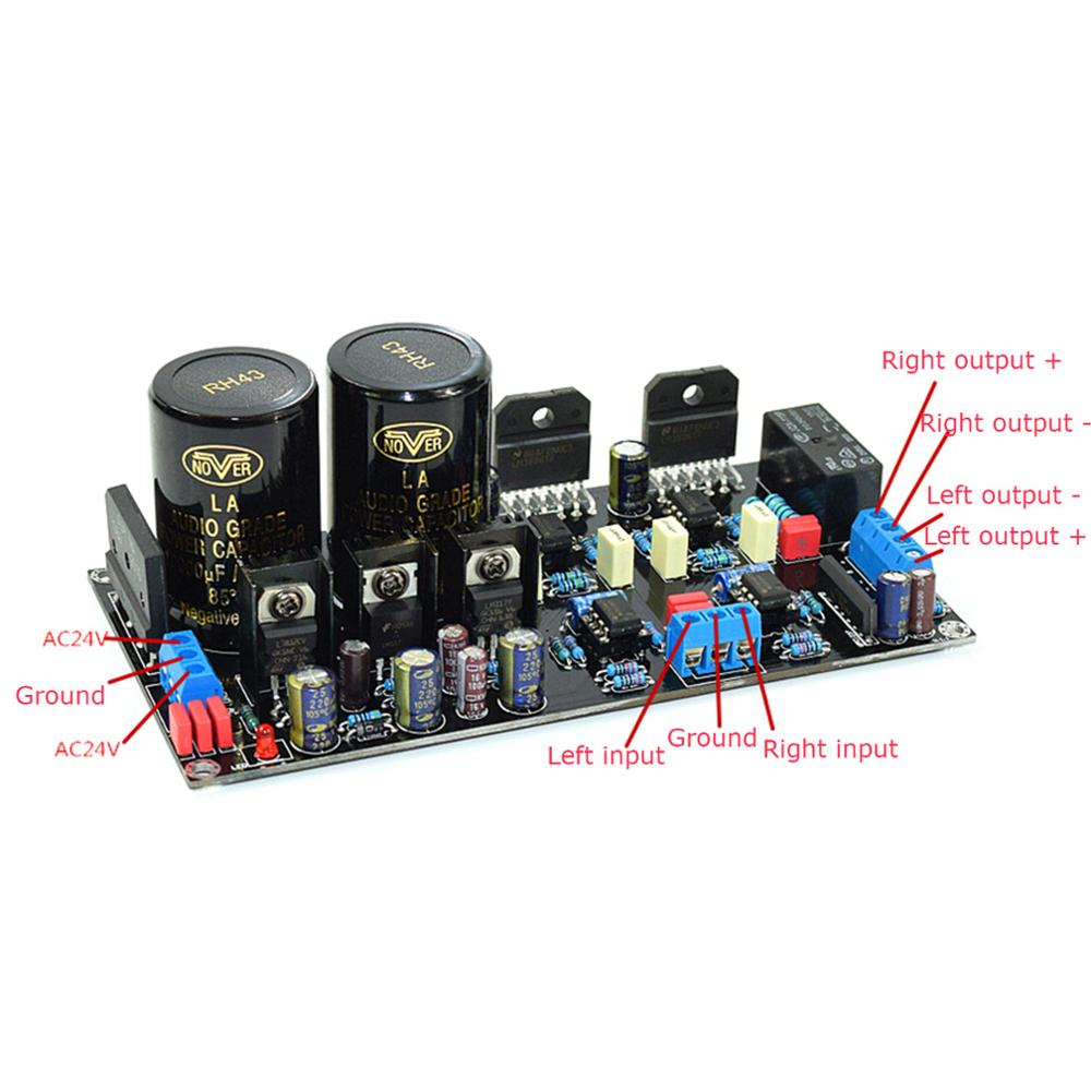2x HIFI LM3886 68W+68W Stereo Amplifier Board Rectifier Power Supply Board