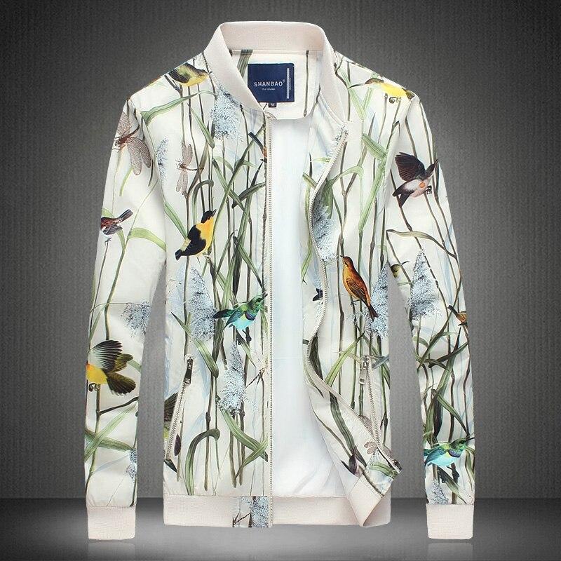 Весенняя мода Для мужчин, повседневная куртка, брендовая куртка Для мужчин бамбук печати благородство Для мужчин кофта, Кардиган большого р...
