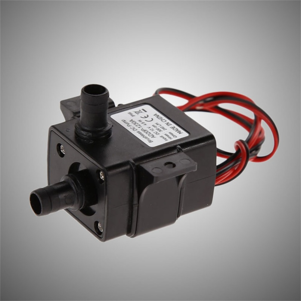 DC12V 240L/H Brushless Permanent Magnetic Rotor Submersible Water Pump Garden Pond Fountain Aquarium Spray Water Cycle Fish Tank