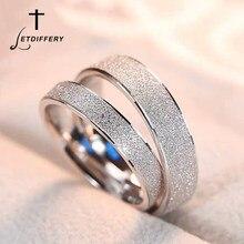 Letdifery anel de aço inoxidável 4mm feminino, ouro rosa, casal, esfrega, anéis para homens, presentes de noivado